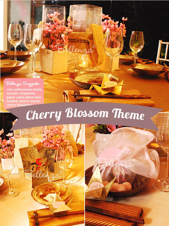 Cherry Blossom Themed bridal shower theme
