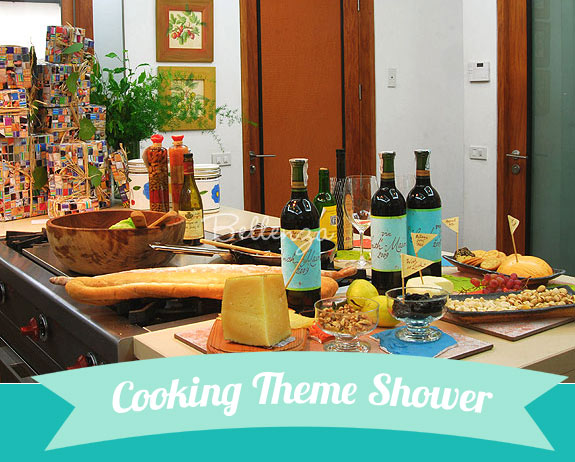 Gourmet Cooking-themed Bridal Shower
