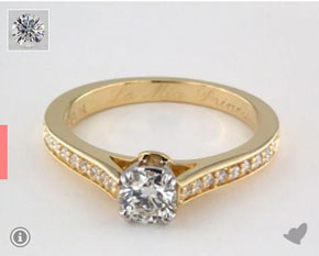 Gold ring from James Allen