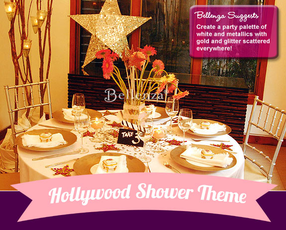 Hollywood Themed Shower