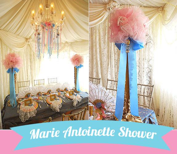 Marie Antoinette Themed Bridal Shower