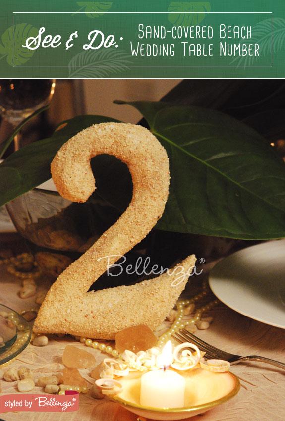 Sand table number DIY | The Wedding Bistro at Bellenza
