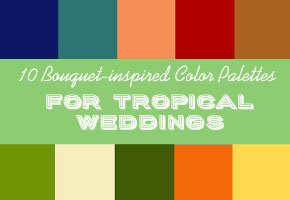 10 tropical wedding palettes inspired by bright summer bouquets.