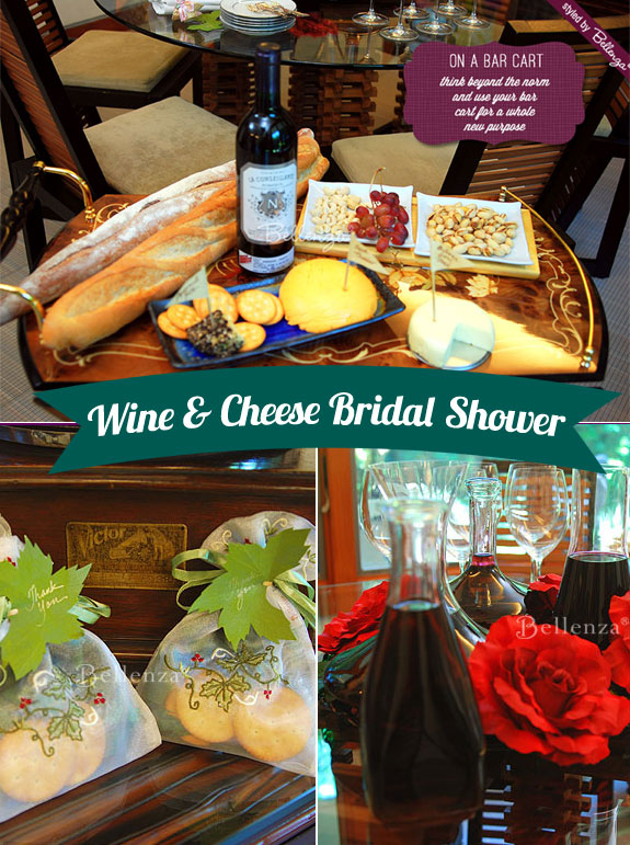 Wine and cheese shower party