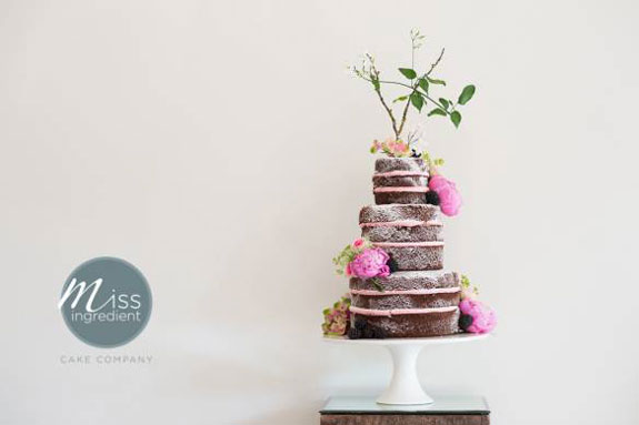 A Chocolate Naked Wedding Cake – Made by Miss Ingredient UK.