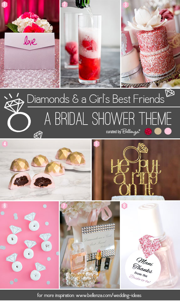 Diamonds Themed Bridal Shower Ideas from Color Scheme to Styling Elements from Bellenza.