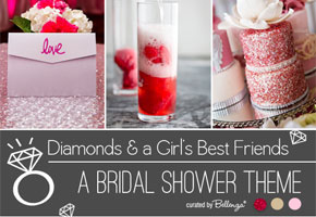 Diamonds theme, she's a gem, and wedding ring bridal shower theme
