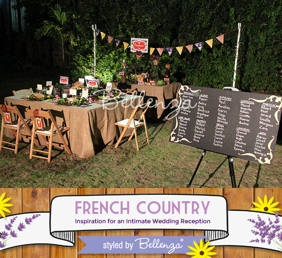 Backyard venue for a French Country wedding theme | The Wedding Bistro at Bellenza