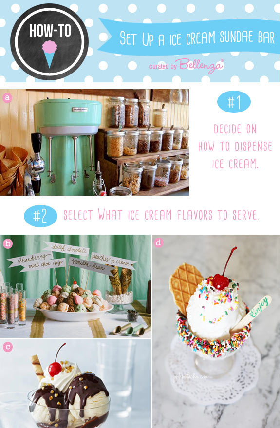 DIY ice cream sundae bar set up ideas for weddings