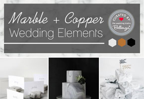 Marbled textures for simple modern weddings