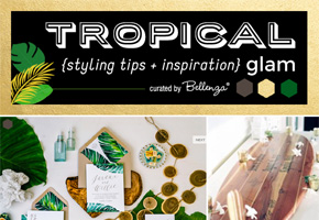 Tropical glam wedding style for summer