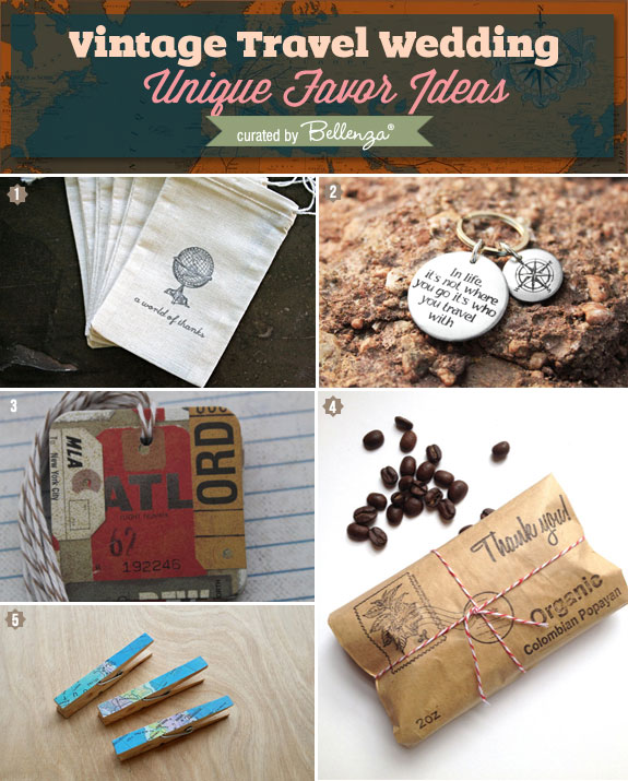 Vintage travel favors and gifts from etsy