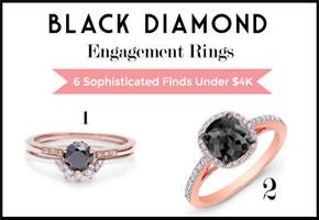 Black diamond engagement rings under $4000