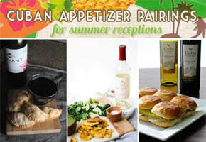 Cuban appetizer wine and cocktail pairings for weddings