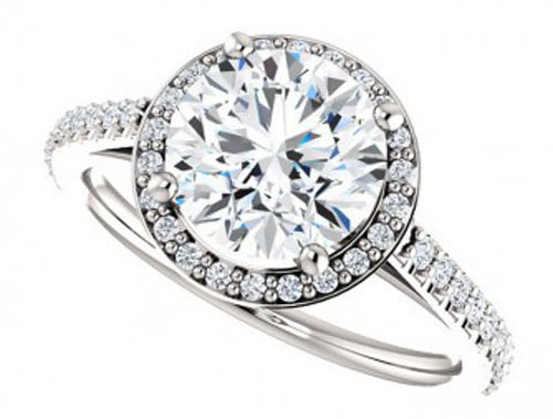lillian ring – 2 carat halo moissanite engagement ring