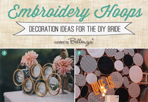 Embroidered hoops weddings decoration ideas