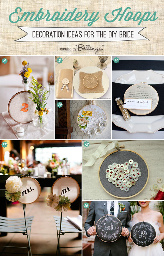 Wedding Favors and Keepsakes You Can Make with Embroidery Hoops