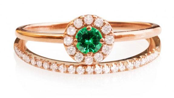 Mini Diana Gemstone Diamond Ring Round