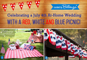 Styling a 4th of July-inspired Wedding Picnic at Home