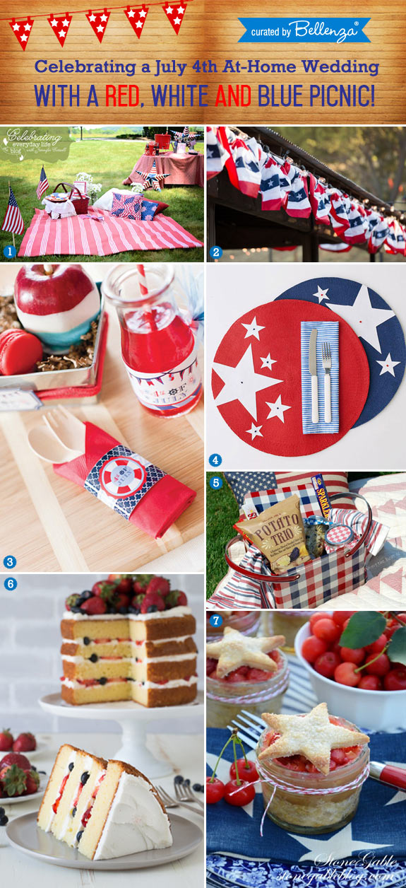 Homemade Ideas for a July 4 Wedding Picnic Celebration