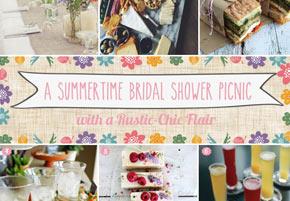 Rustic bridal shower backyard picnic
