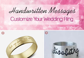 Custom handwritten wedding rings