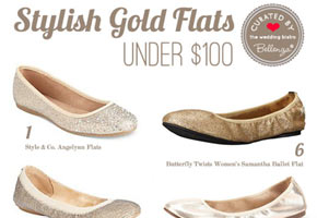 10 Stylish Gold Flats for Weddings!