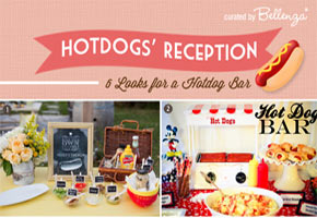 Serve hot dogs at a wedding reception // tips and ideas from Bellenza