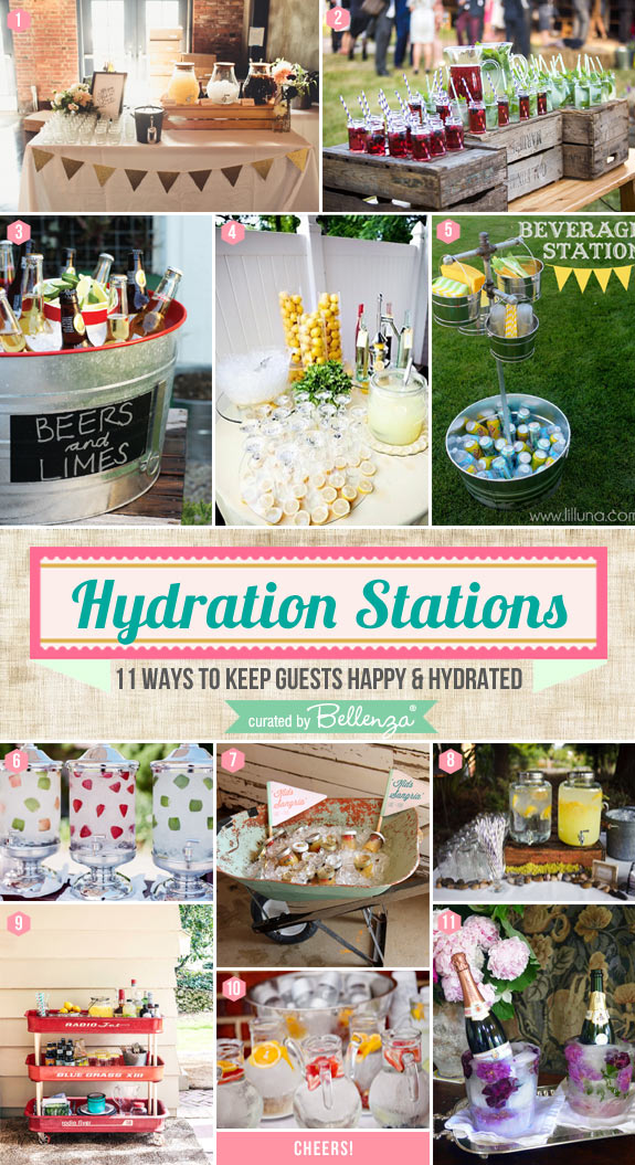 Hydration Stations! 11 Ways to Keep Guests Happy and Hydrated
