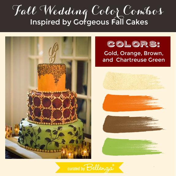 Fall Wedding Color Combos Inspired by Gorgeous Fall Cakes!
