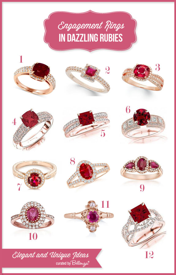 Ruby Engagement Rings for Less than $5K