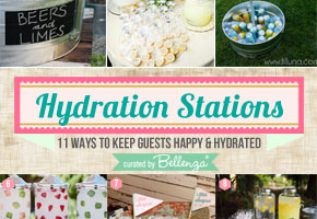 Creative Tips for Hydration Stations at Summer Weddings