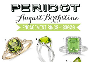August birthstone rings