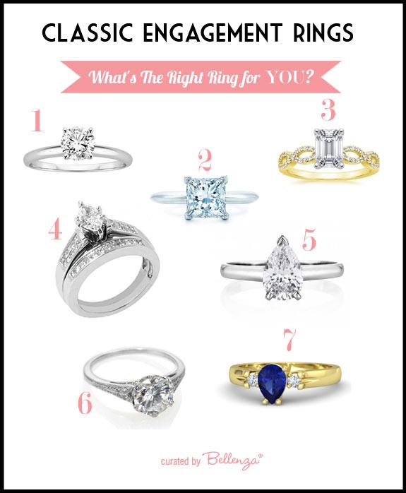 Classic wedding rings styles