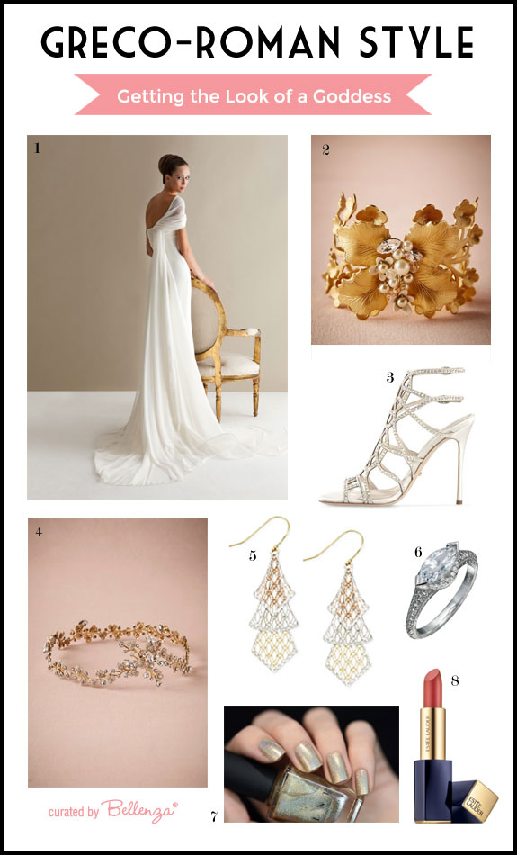 Greco Roman Style Inspiration for the Modern Elegant Bride