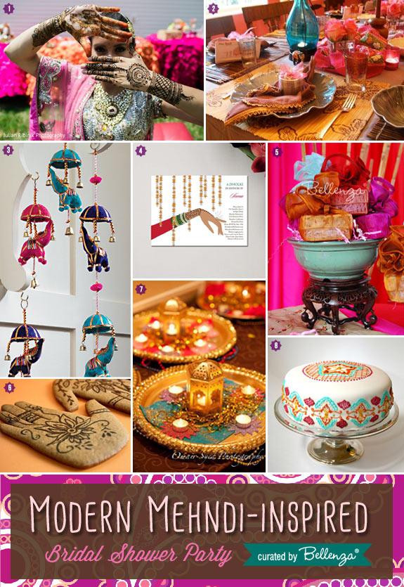 Modern Mehndi-inspired Bridal Shower Featured Ideas