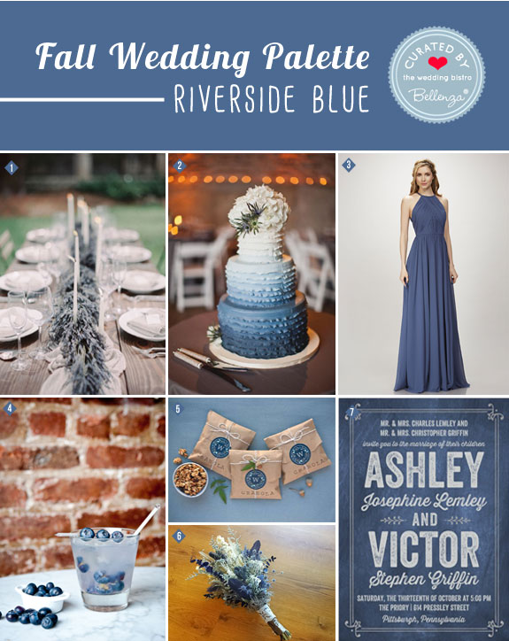 Riverside Blue in a Wedding Palette of Natural Hues