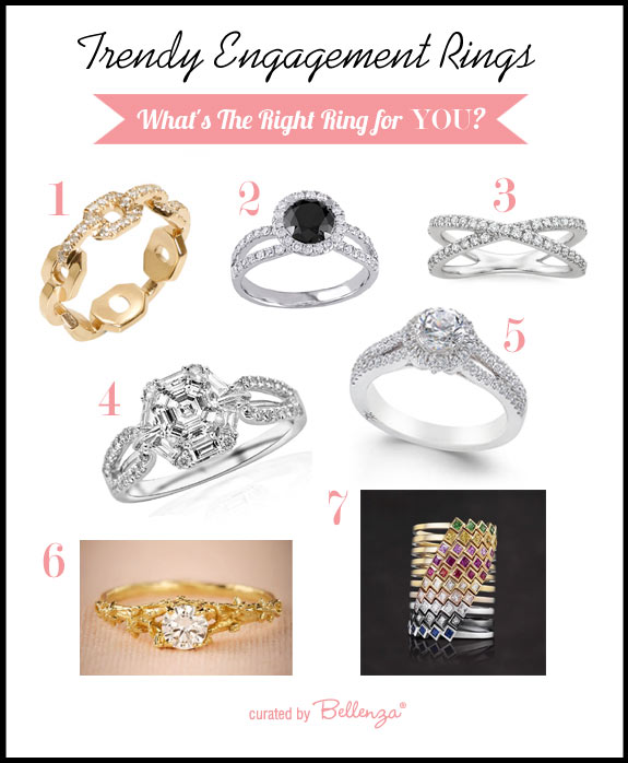 Trendy engagement rings styles