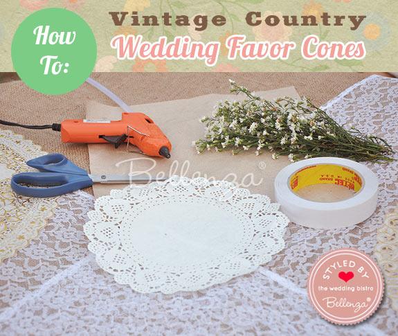 DIY Wedding Favor Cones Materials // by Bellenza