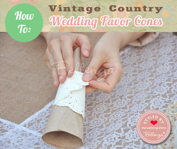 Wrap the cone completely with the doily until it is completely secured to the cone.