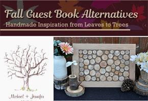 Alternative fall guest book ideas that are handmade.