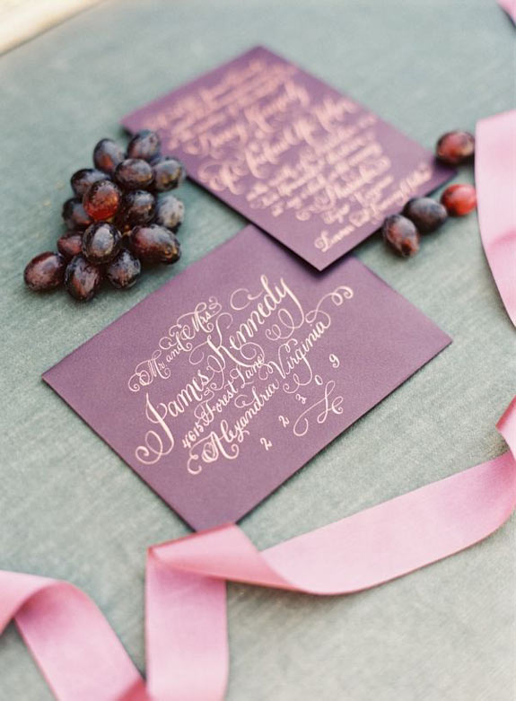 Laura Hooper Calligraphy featured on Wedding Chicks