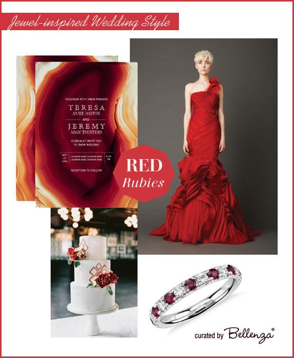 Rubies in red wedding palette