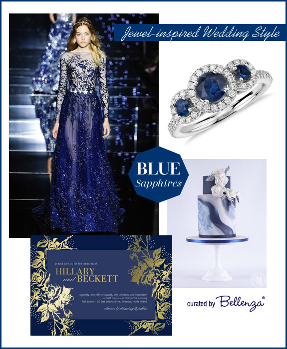 Sapphire blue wedding palettes