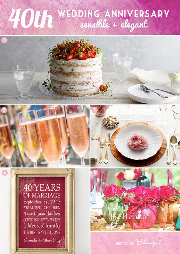 Modern 40th Wedding Anniversary Theme