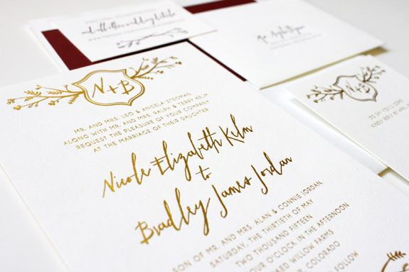 Wordshop Paperie invitations