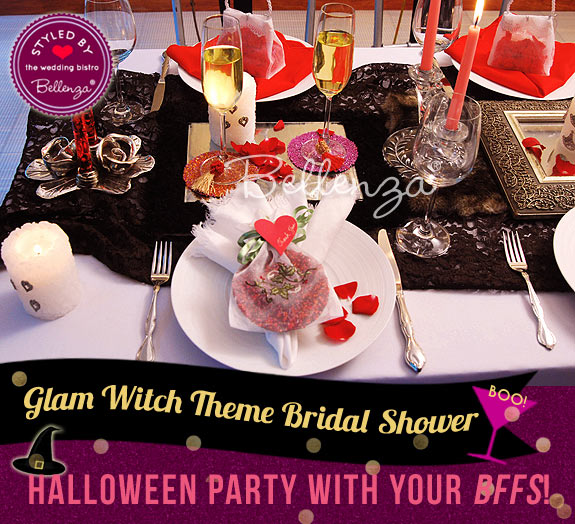 Create a Goth Glam Tablescape // styled shoot by Bellenza.