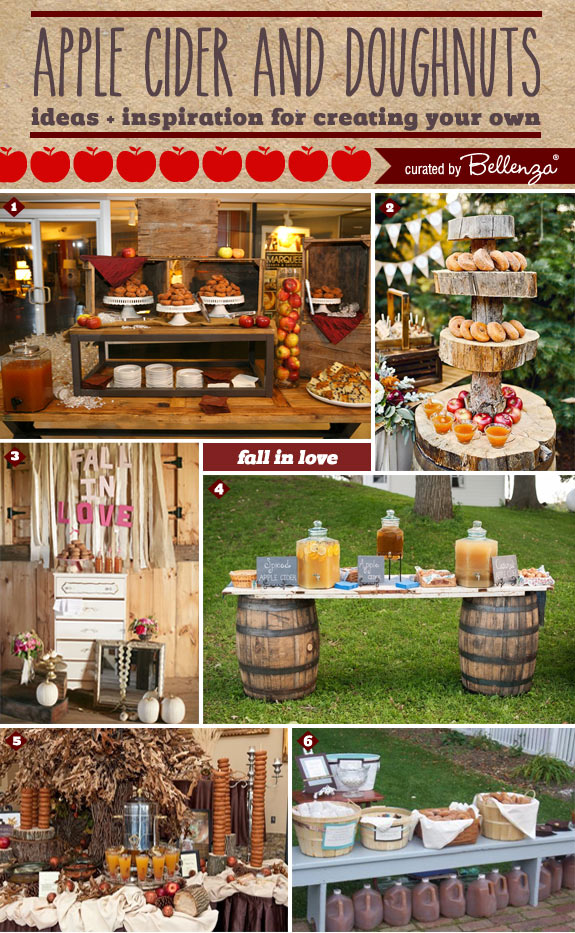 How to Assemble an Apple Cider and Donut Station at Your Fall Wedding