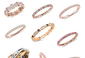 Eternity rings as wedding anniversary gifts // Curated Finds by Bellenza.