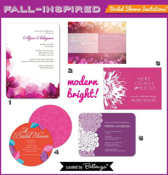 Modern and Bright Invitations for a Fall Bridal Shower